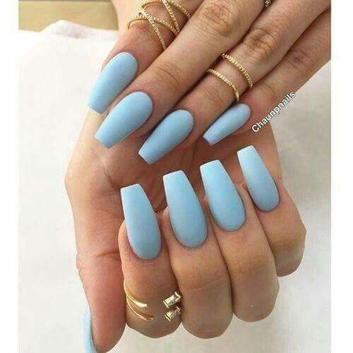 Sky Blue Quinceanera Nails Sky Blue Nails Cinderella Nails