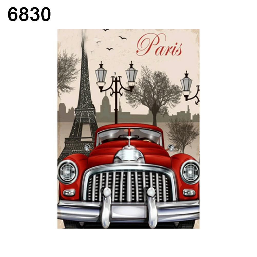 Photo of Fashion Craft Decor Bike Car Cross Stitch Embroidery 5D Diamond Home Decor – as the picture a