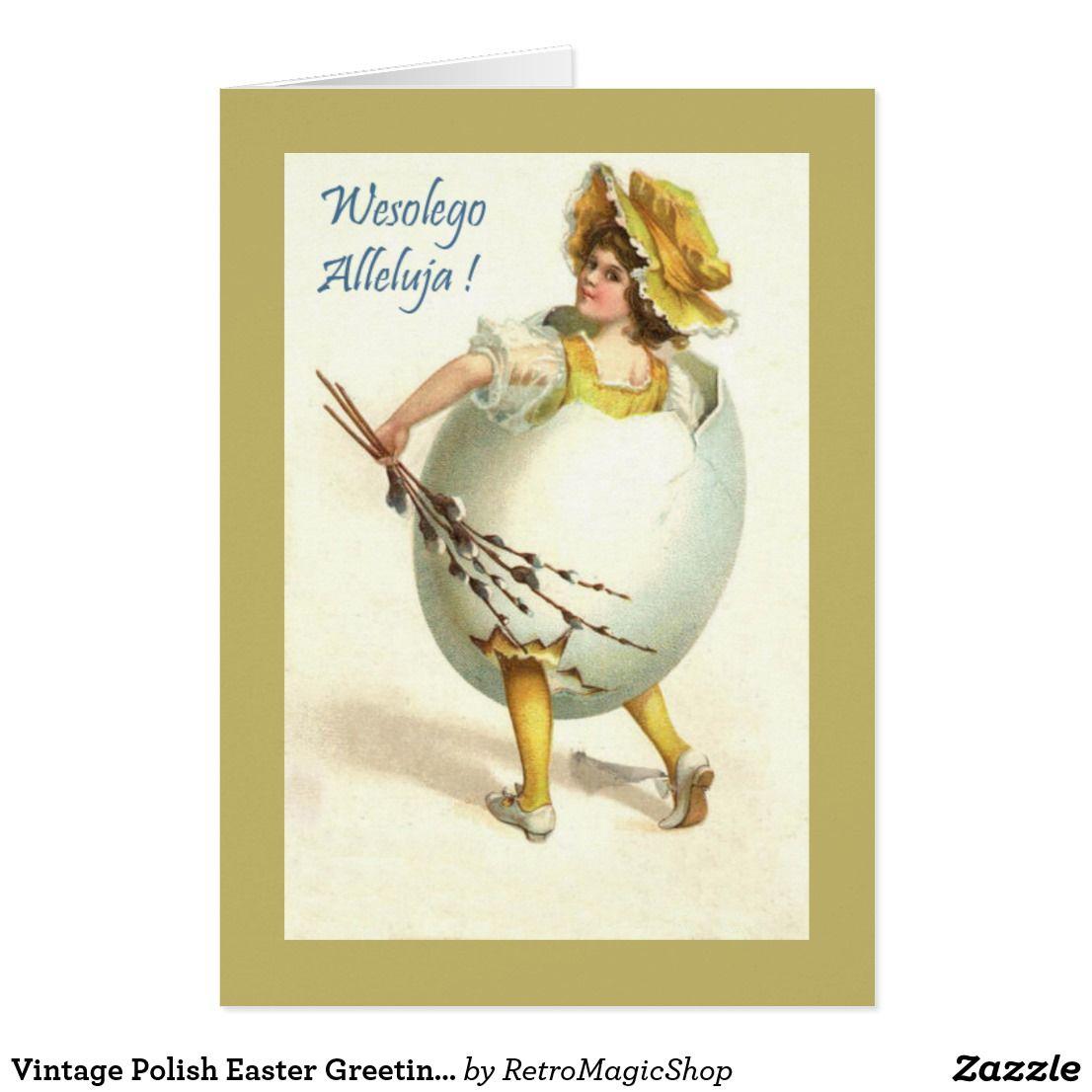 Vintage polish easter greeting card vintage international easter easter greeting kristyandbryce Images