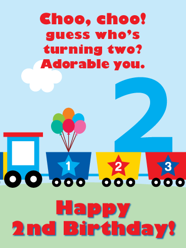 Toy Train Doodle Happy 2nd Birthday Card Birthday Greeting Cards By Davia Birthday Boy Quotes Birthday Wishes For Kids Birthday Greetings For Brother