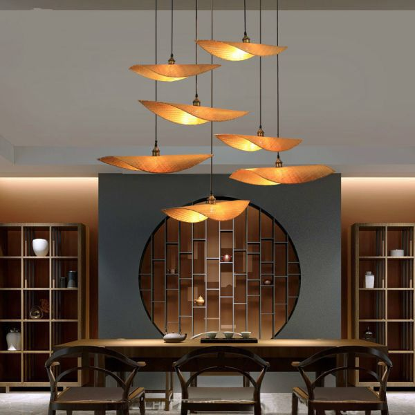Sg 103 06 5 Off Bamboo Knitting Pendant Lamp New Chinese Restaurant Teahouse Bamboo Hanging L Asian Decor Living Room Asian Home Decor Asian Bedroom Decor
