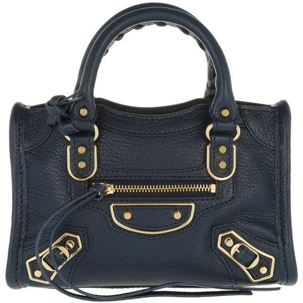 588c1d568c54 Balenciaga Shoulder Bag - Classic Metal Edge Nano City Tote Blue - in.