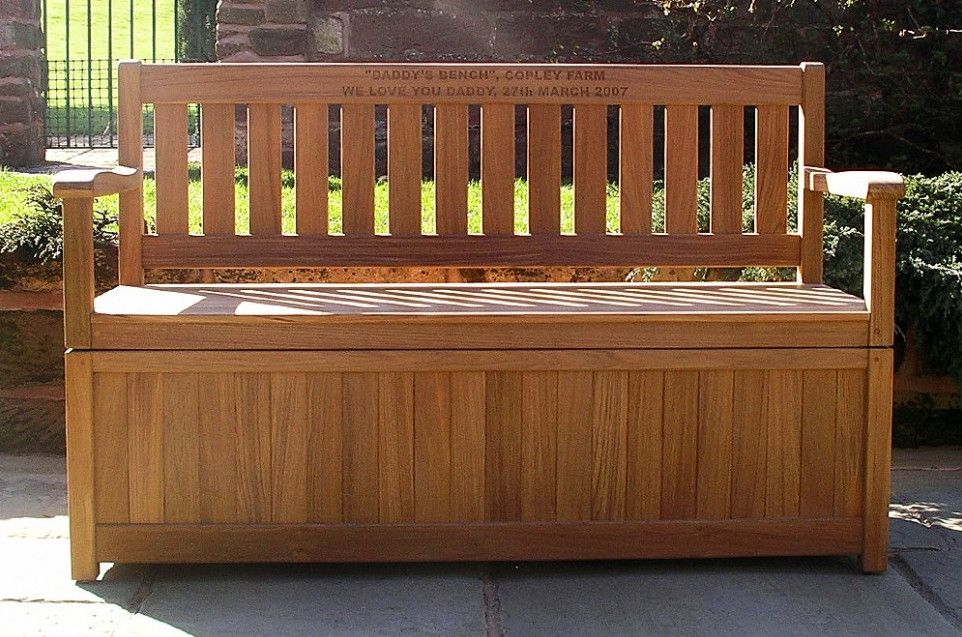 Bench With Storage Plans Outdoor Bench Plans And Different