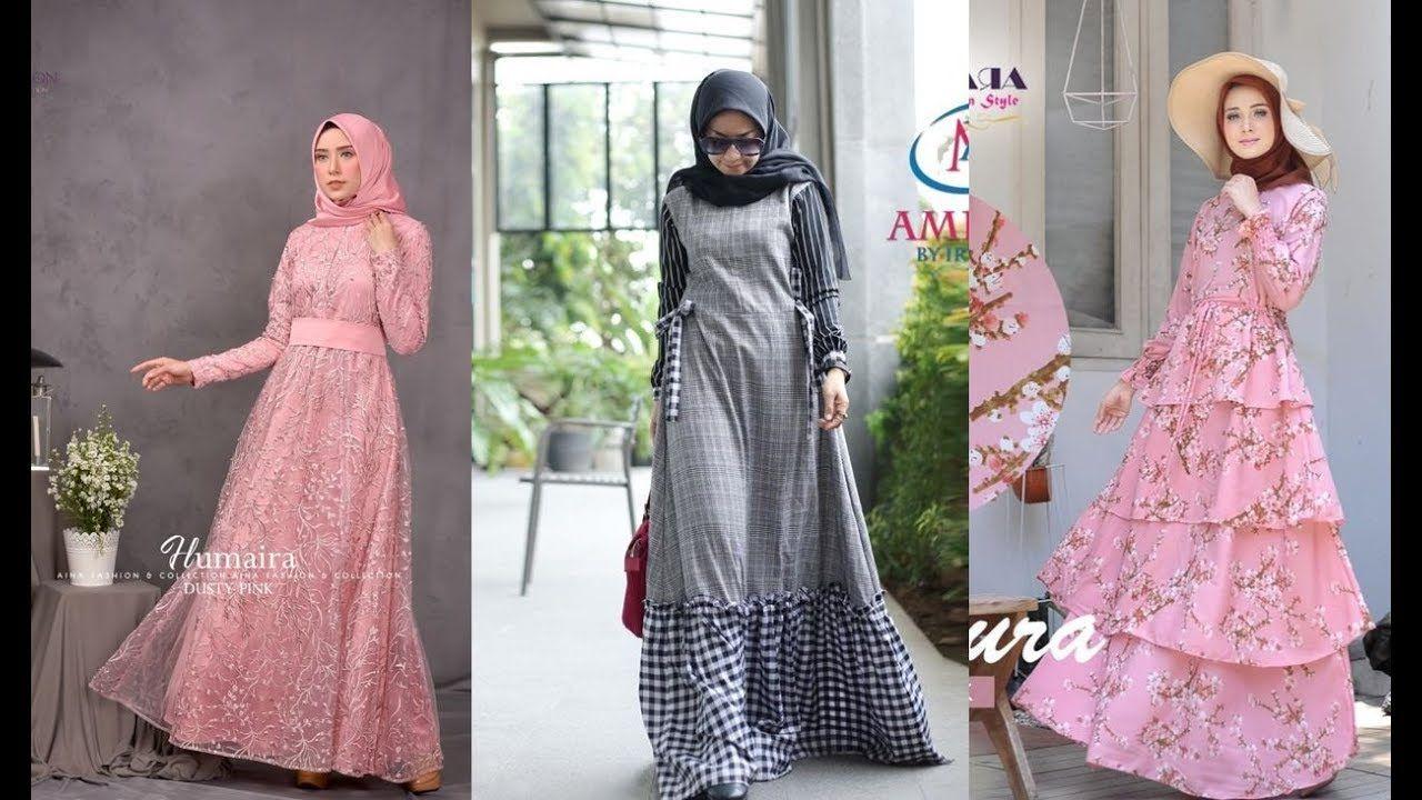 Dress Muslimah Modern Terbaru  Model pakaian, Gaun ukuran besar, Gaun