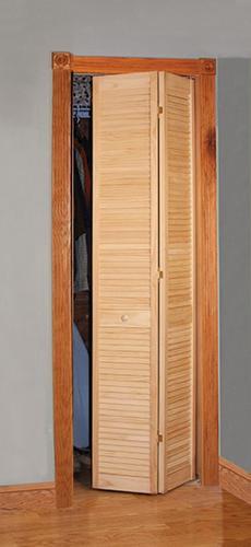 Designer S Image 24 W X 80 H Pine Unfinished Full Louvered 2 Leaf Bi Fold Door In 2020 Bifold Doors Designer Image Design