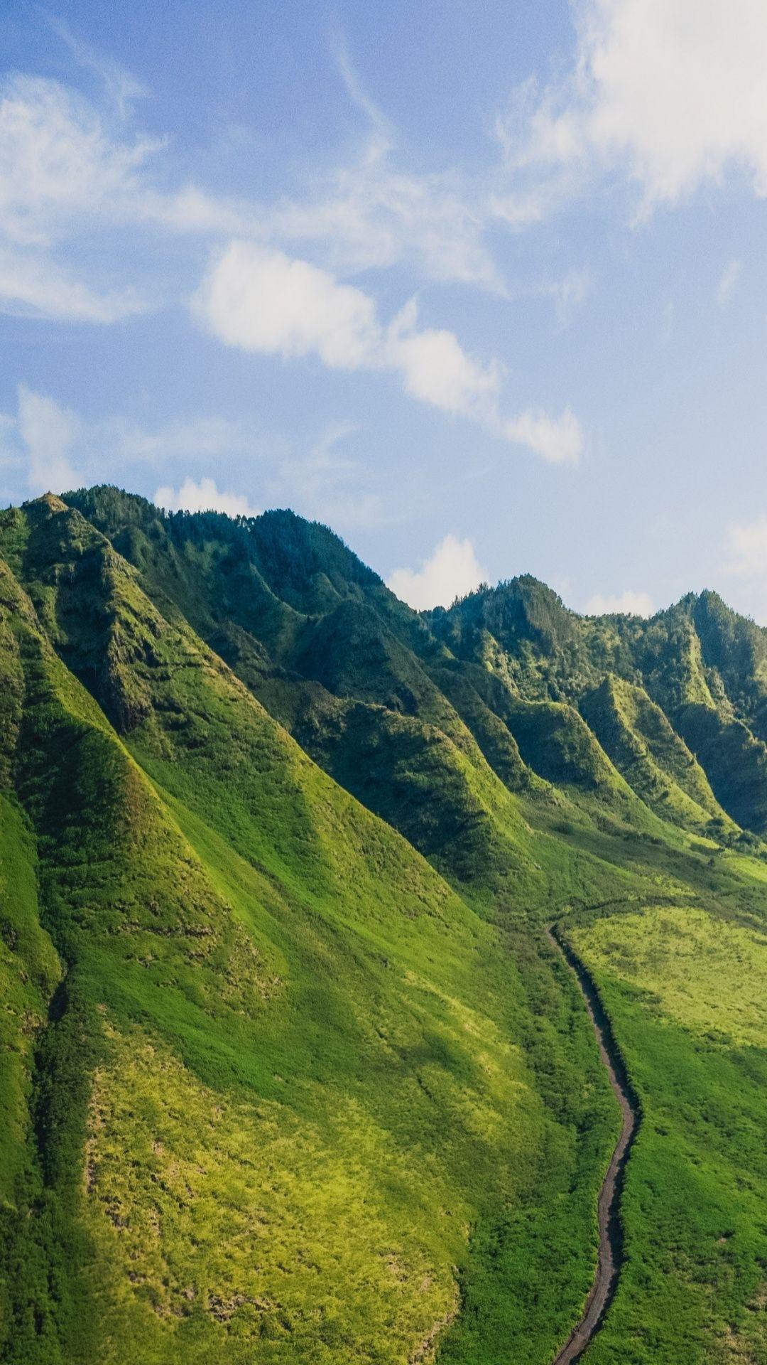 1080x1920 Green Mountains Mountain Range Landscape Wallpaper In