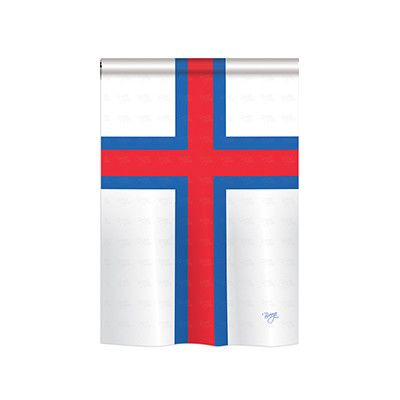 "TwoGroupFlagCo Faroe Islands 2-Sided Vertical Flag Size: 18.5"" H x 13"" W"