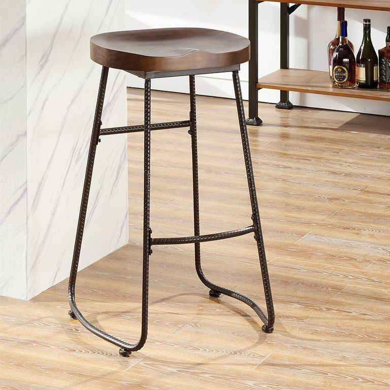 These Farmhouse Bar Stools Will Give Your Kitchen Joanna Gaines Vibes Backless Bar Stools Farmhouse Bar Stools Bar Stools