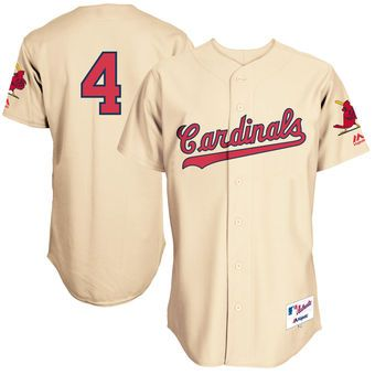 outlet store ffaae 238ed Men's St. Louis Cardinals Yadier Molina Majestic Cream Turn ...