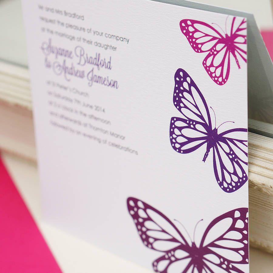 Butterfly Wedding Invitation Butterfly wedding Products and