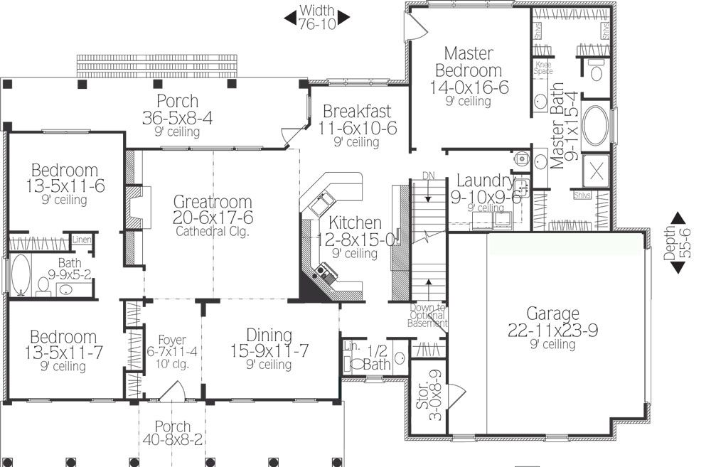 Southborough Cottage House Plan 5558   3 Bedrooms And 2 Baths | The House  Designers
