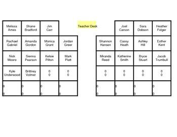 Seating Chart Randomizer | The Magic School Board | Seating