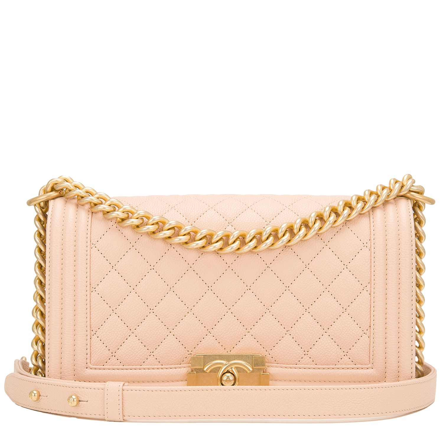 d09d7a76f50d Chanel Light Beige Quilted Caviar Medium Boy #Bag | Handbags to Die ...