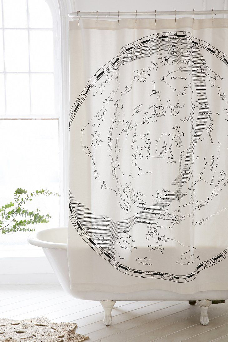 magical thinking map shower curtain urban outfitters