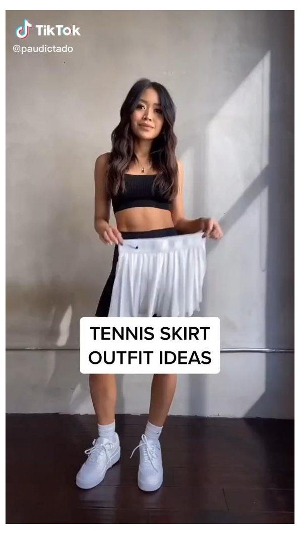 tennis skirt outfit fashion