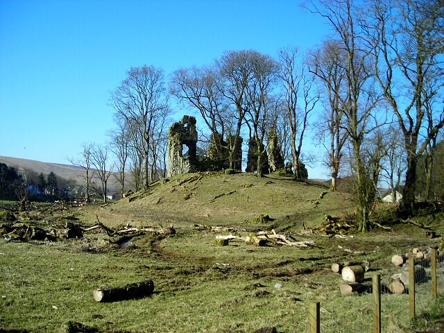 Crawford Castle by Iain Thompson - near to Crawford, South Lanarkshire, Great Britain