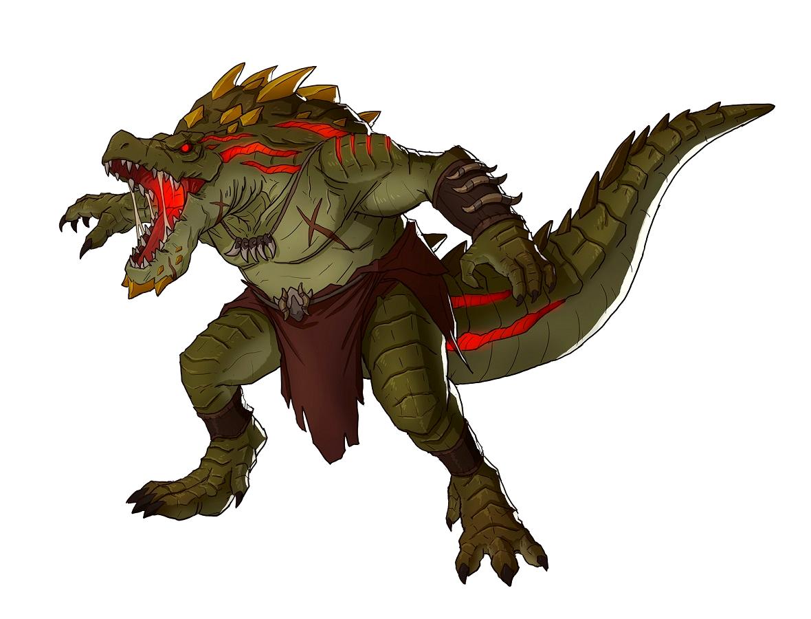Male Lizardman Barbarian Pathfinder Pfrpg Dnd D D 3 5 5e