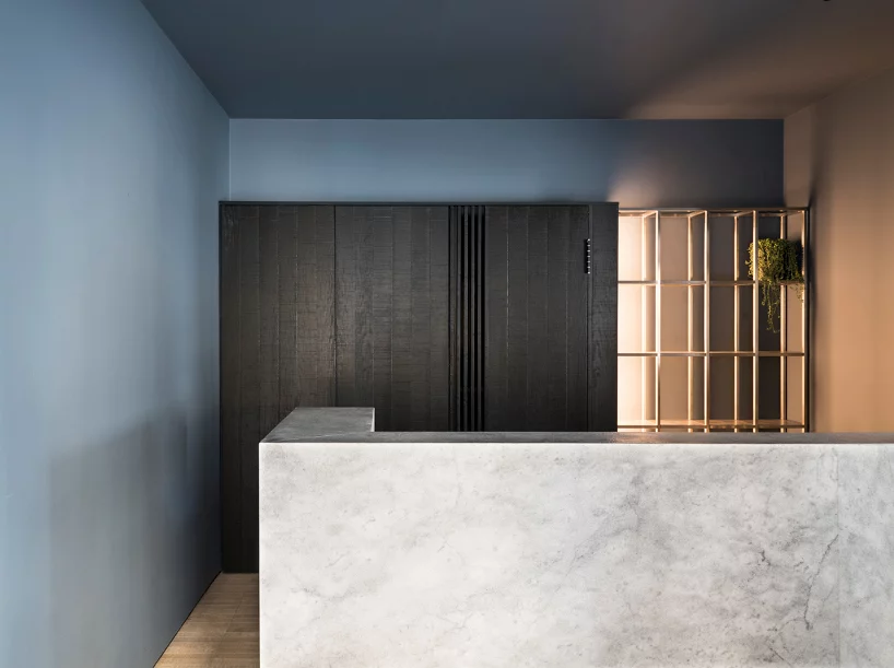 studio didea uses marble and oak parquet flooring to