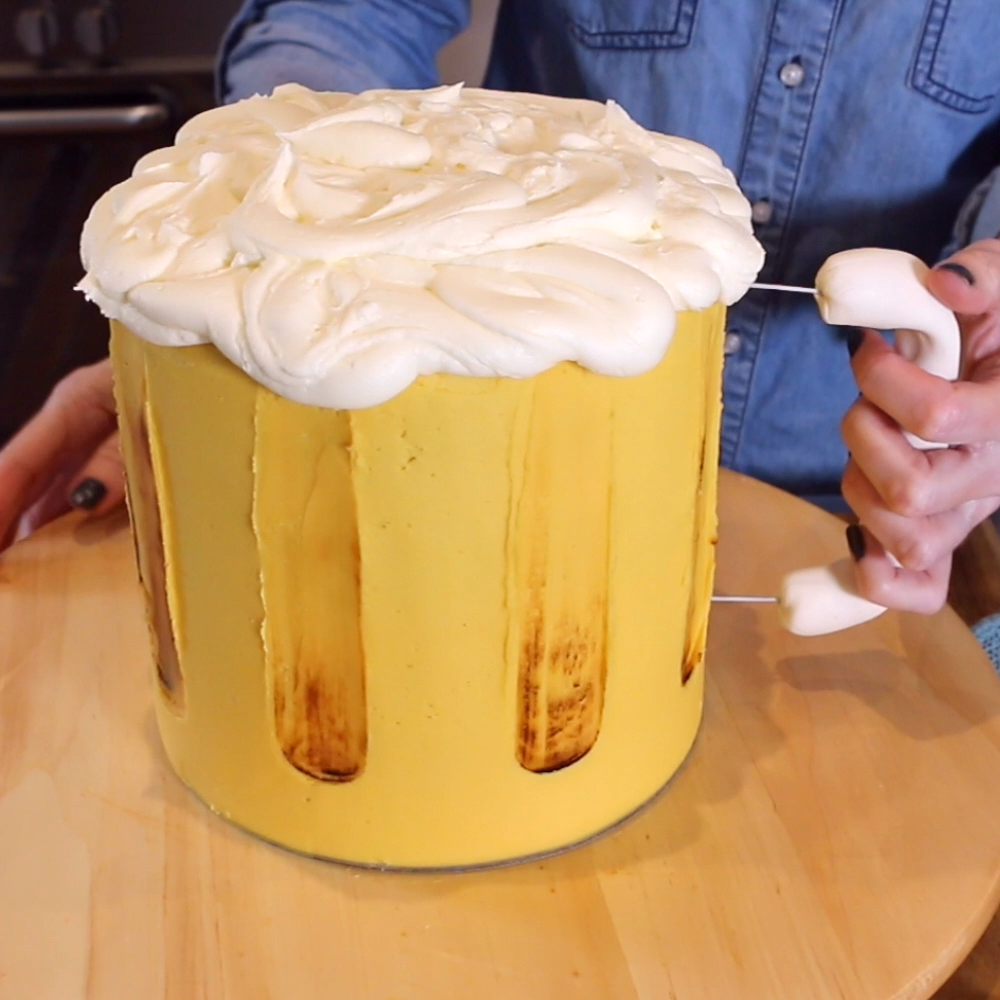 Beer and bar snacks cake #cakedecoratingvideos