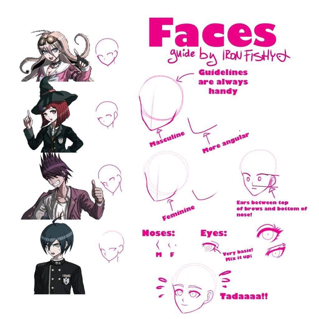 How to draw danganronpa faces danganronpa anime