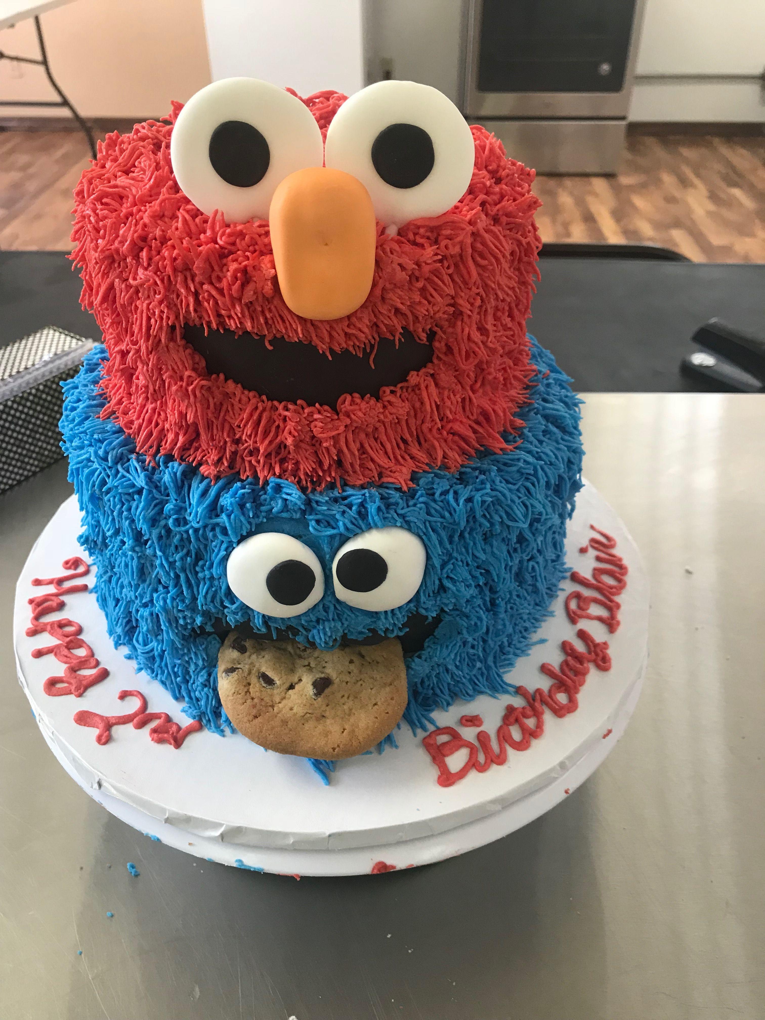 Elmo Cookies Monster Cake Elmo Cake Cookie Monster Cake
