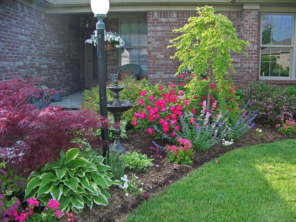 front of house flower garden - Flower Beds and Gardens