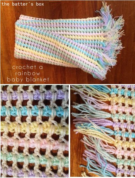 Rainbow Baby Blanket Free Pattern Translation 1 Crochet