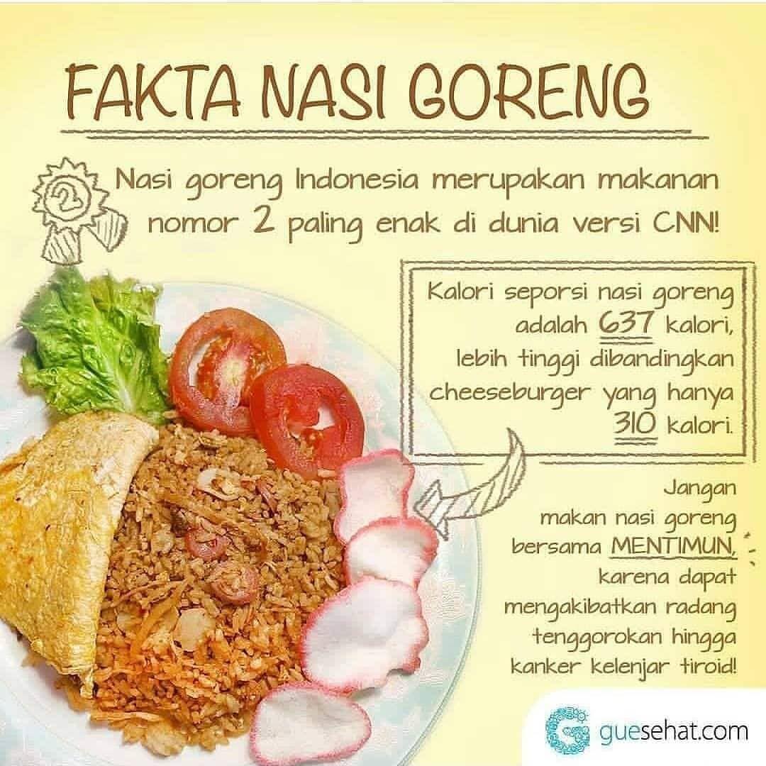 Pin Oleh Dewi Di Cemilan Nasi Goreng Nutrisi Makan Siang