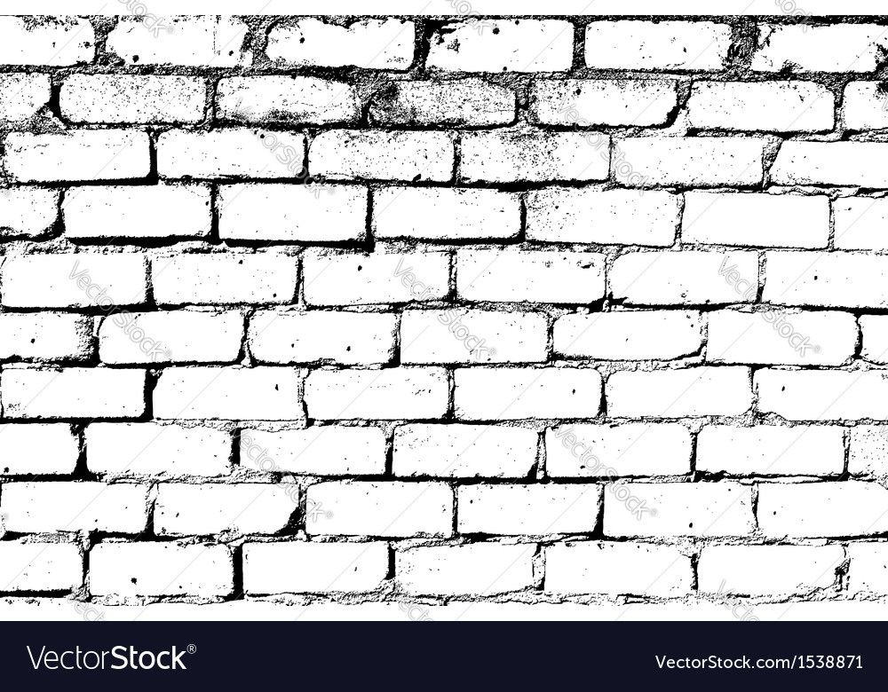 White Brick Wall Vector Image On Vectorstock Brick Wall Drawing Brick Wall White Brick Walls