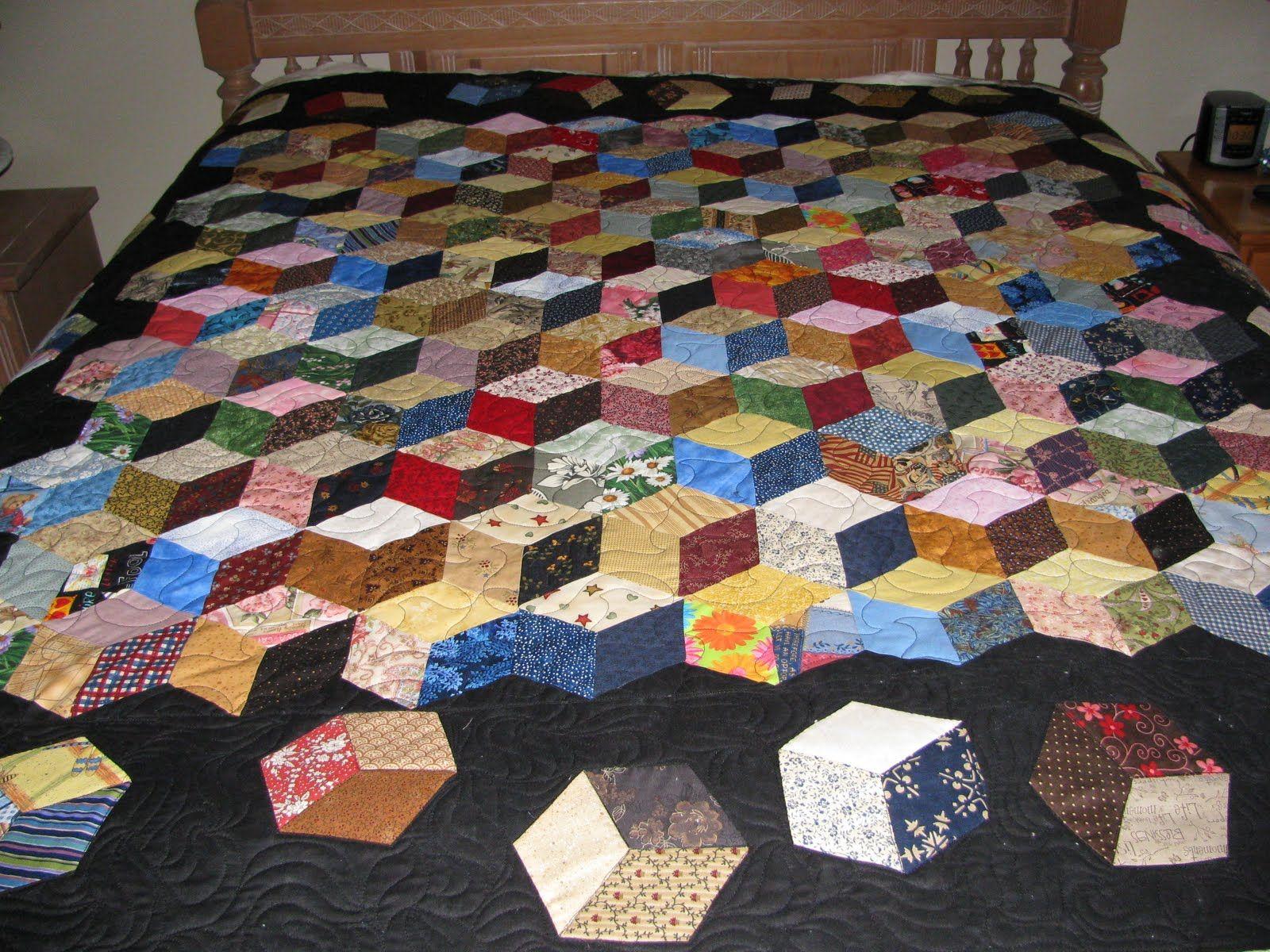 Tumbling Blocks Quilt Fabrics I Want To Buy Pinterest