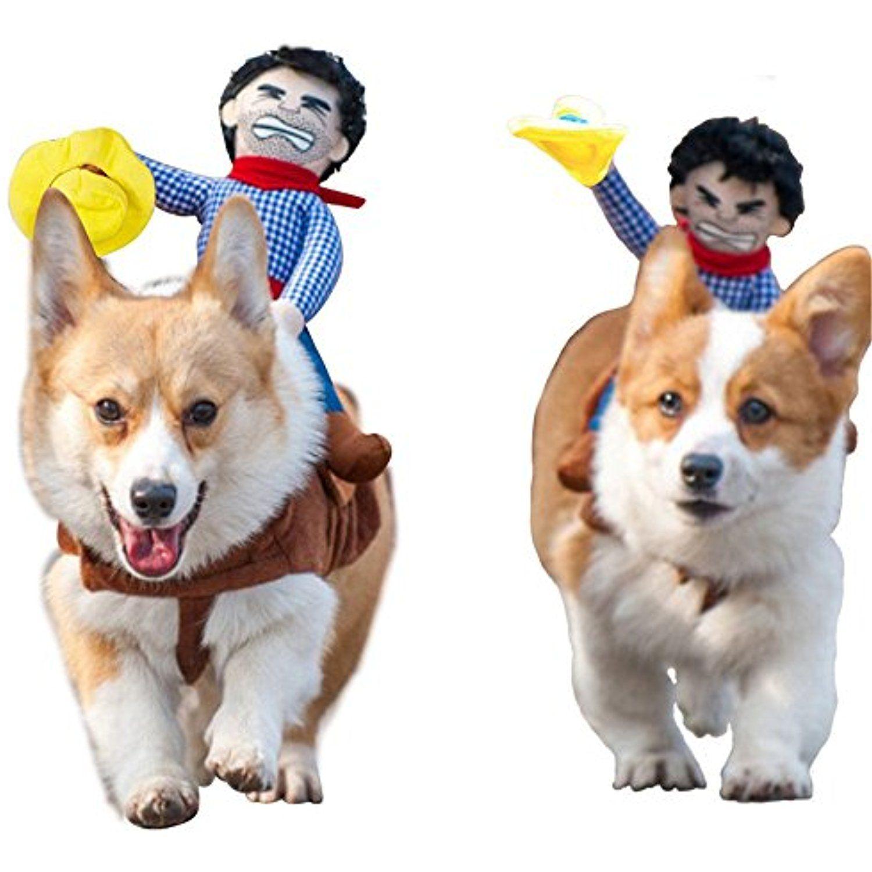 Fun Pet Costume Dog Cowboy Rider Knight Style Pet Costume