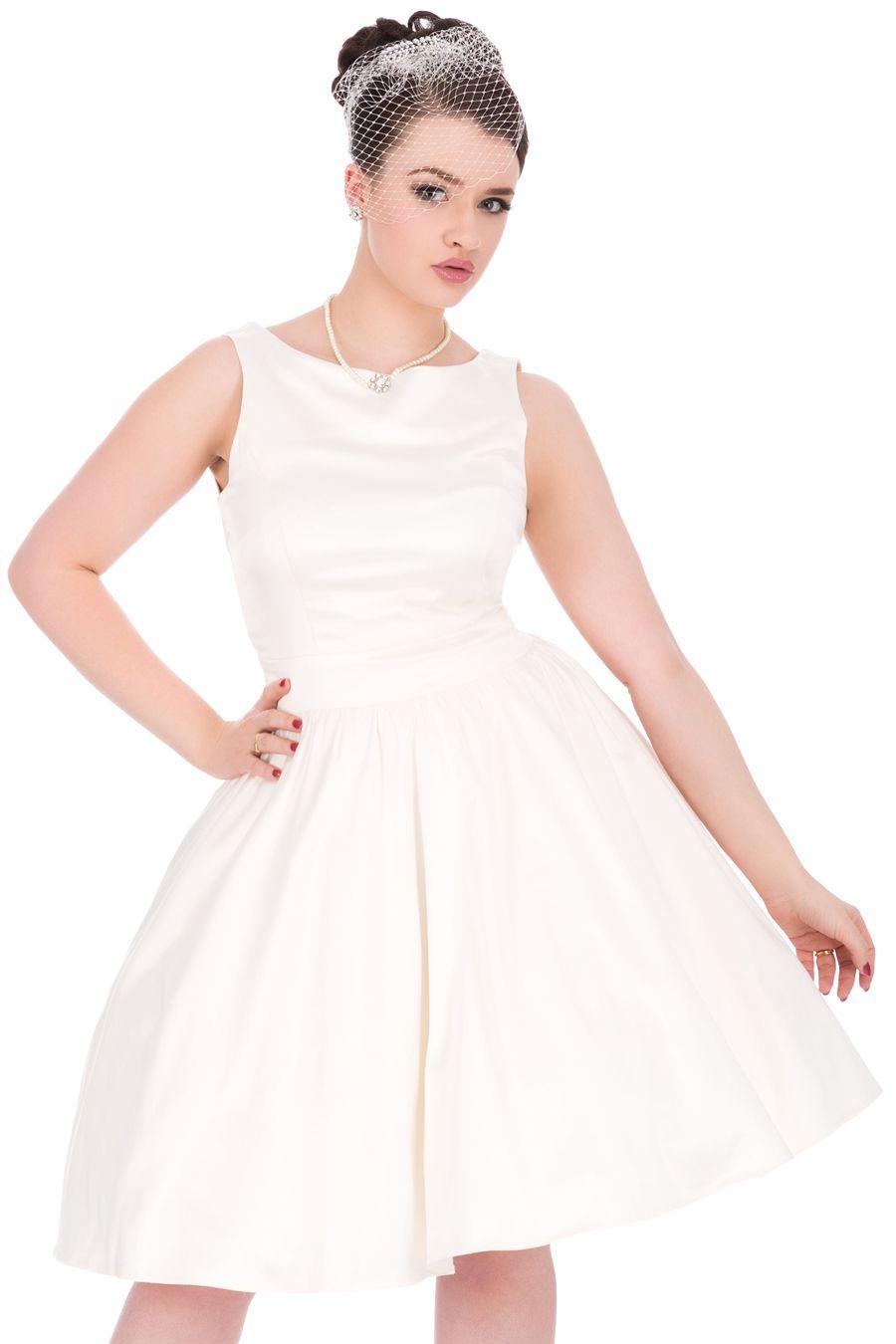 1940s style wedding dresses  s Style Ivory Wedding Tea Dress  Lady Vintage  Så länge högern