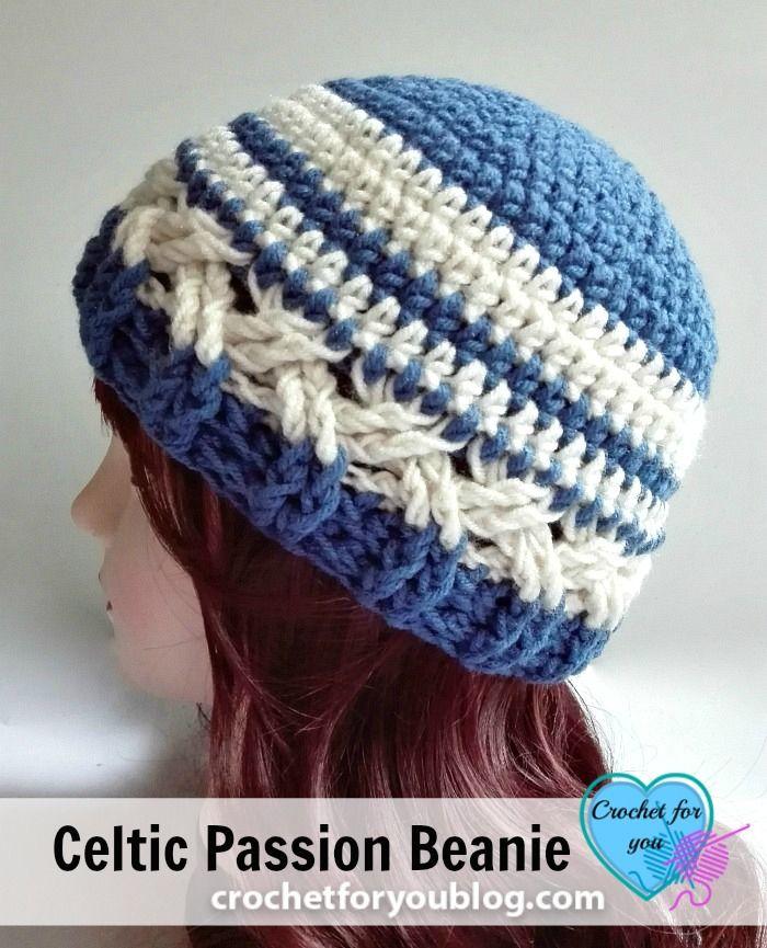 Celtic Passion Beanie Free Crochet Pattern | Free crochet, Passion ...