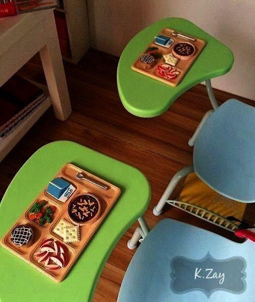 Classroom Desk Mini Books Ant Farm Backpack Laptop Mic...,  American Girl Doll School Classroom Des