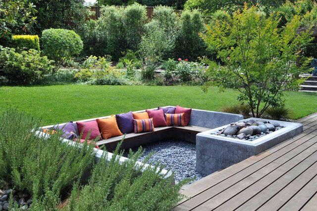 Recessed Sitting Sunken Patio Outdoor Design Backyard