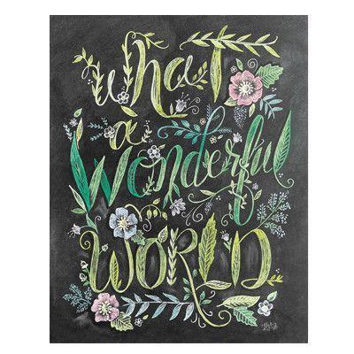 What a Wonderful World - Print