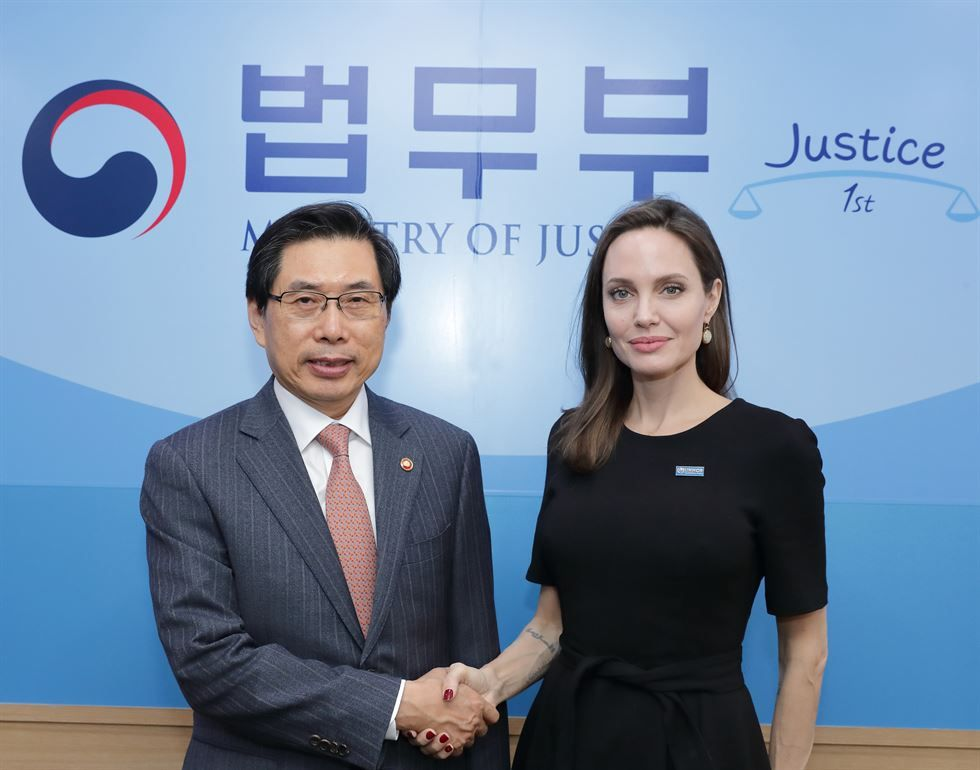 Angelina Jolie in Seoul