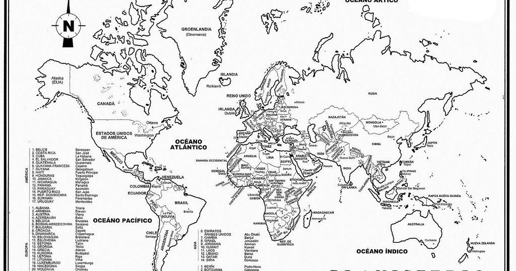 Si Buscas Para Tus Tareas El Planisferio O Mapamundi Con Su