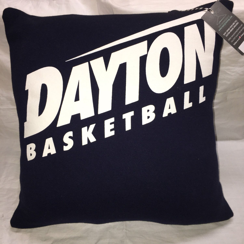 Dayton Ohio University Sweatshirt Pillow 16x16 Upcycled One Of A