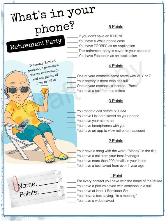 graphic regarding Retirement Party Games Free Printable identified as Retirement Bash Sport-Whats inside of your cellphone Cop celebration