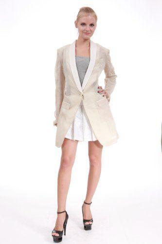 Dolce & Gabbana Womens Jacket Beige Style Bx1 F2809T Sz 42,44