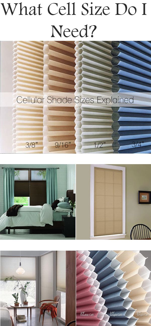 What Cell Size Do I Need Cellular Shade Sizes Explained Blinds Com Cellular Shades Cell Shade Home Remodeling