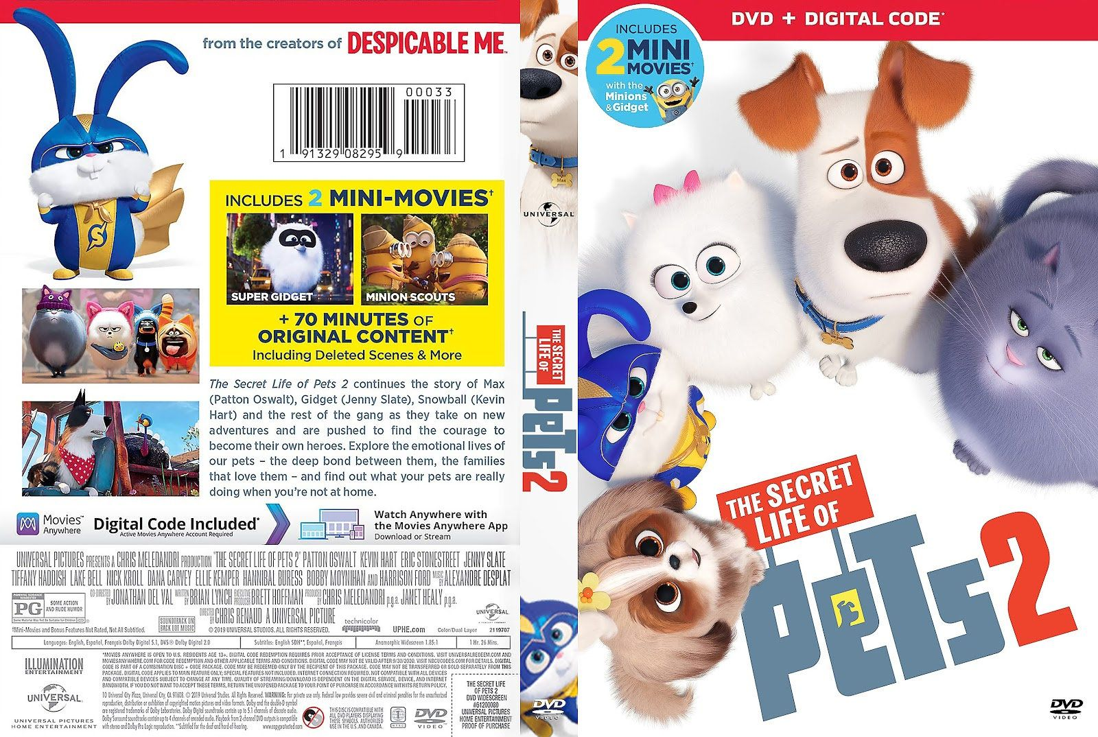 Secret Life Of Pets 2 Dvd Free Shipping Worldwide 2019 In 2020 Secret Life Of Pets Dvd Covers Pets
