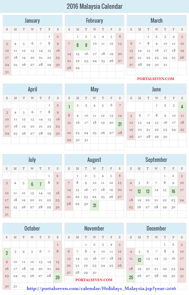 Malaysia Holidays Calendar   About Education