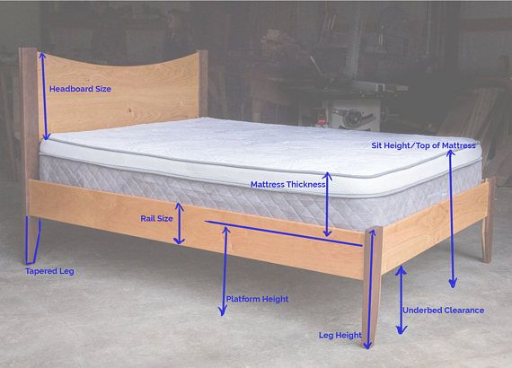 Curly Maple Simple Bed Platform Bed Frame Straight Etsy