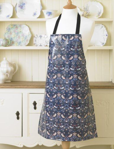 Licensed William Morris Lily Floral Cotton Drill Apron