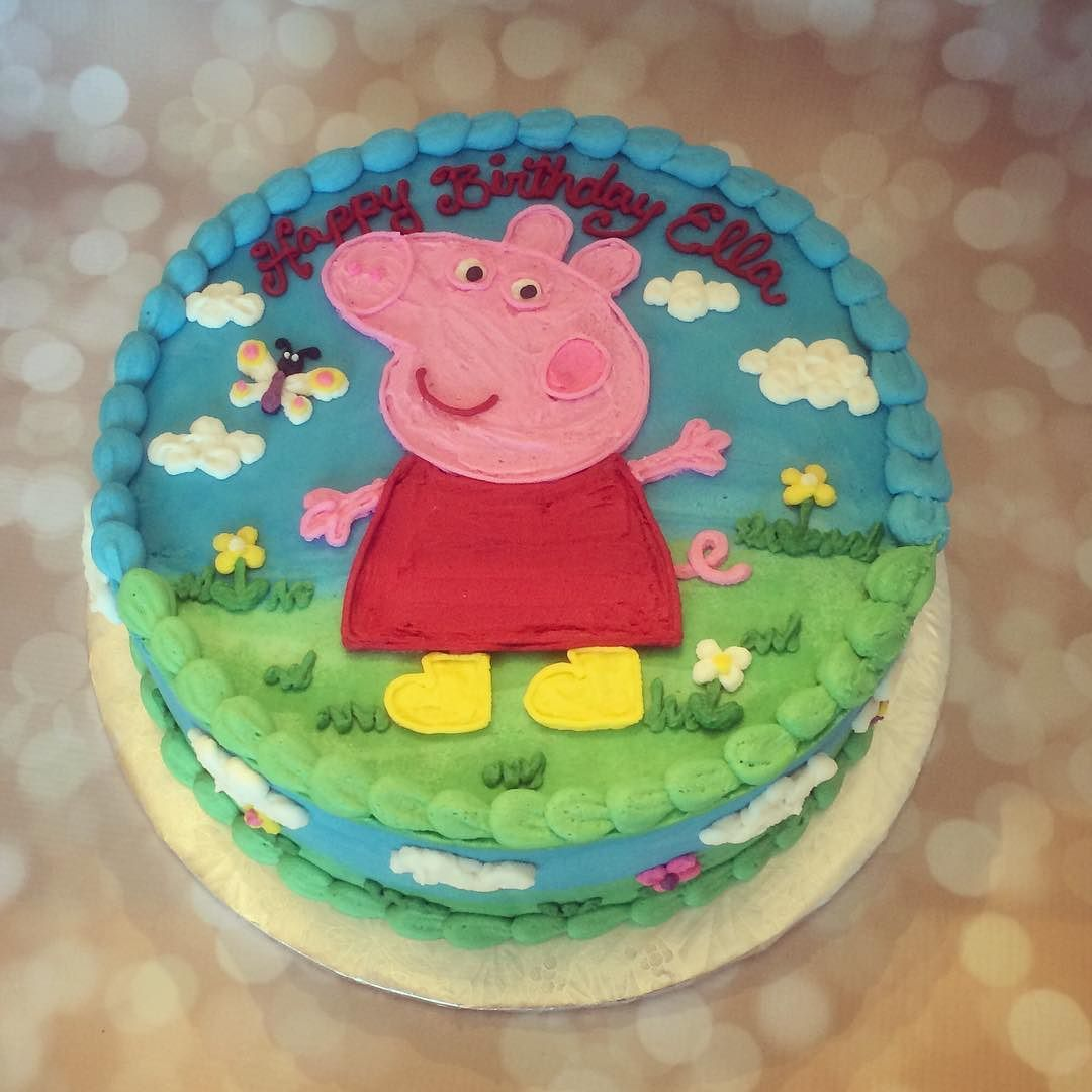 rmiggs on instagram peppa pig cake this cake is made with dairy free butter cream ici peppa pig birthday cake peppa pig birthday party pig birthday cakes rmiggs on instagram peppa pig cake