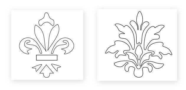Como fazer stencil para decora o de paredes moldes - Moldes para pintar paredes ...