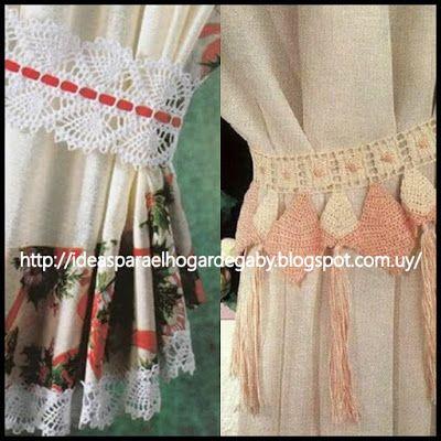Ideas para el hogar sujetadores de cortinas con patrones for Cortinas para el hogar