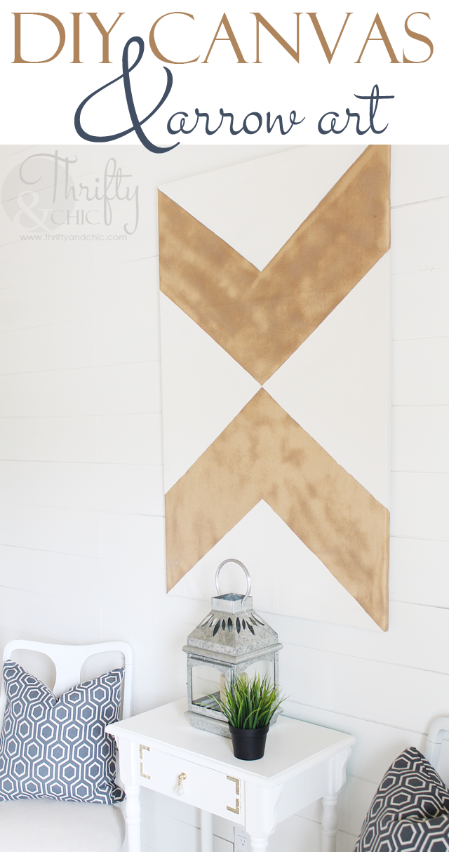 DIY Large Canvas and Arrow Art | Master bedroom | Diy canvas art